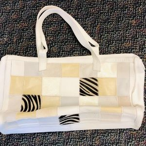 Sobea Campomaggi Italian leather white handbag